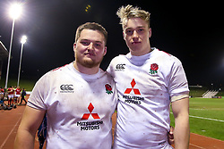 Alfie Petch and Richard Capstick of England U20 - Mandatory by-line: Robbie Stephenson/JMP - 22/02/2019 - RUGBY - Zip World Stadium - Colwyn Bay, Wales - Wales U20 v England U20 - Under-20 Six Nations