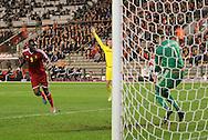 Belgium's Christian Benteke sees his shot saved by Wales' Wayne Hennessey<br /> <br /> - European Qualifier - Belgium vs Wales- Heysel Stadium - Brussels - Belgium - 16th November 2014  - Picture David Klein/Sportimage