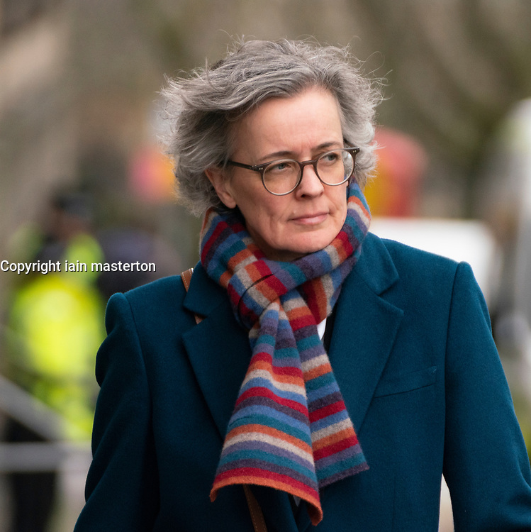 Edinburgh, Scotland, UK. 10 March, 2020.  Alex Salmond trial in  High Court in Edinburgh second day of his trial. Pictured; Shelagh Mccall QC.  arrives at court. She is Gordon Jackson's deputy during the trial.QC Iain Masterton/Alamy Live News