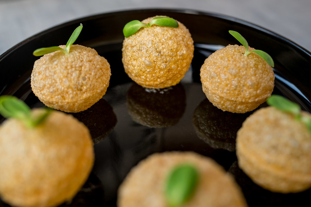 NEW YORK, NY - August 29, 2015: Gol Gappa, served at Babu Ji, a restaurant on the Lower East Side of Manhattan. CREDIT: Emon Hassan for The New York Time
