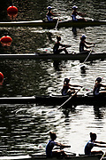 Linz, Austria, Tuesday,  27th Aug 2019, FISA World Rowing Championship, Regatta,  USA LW2-, Bow Margaret BERTASI, Cara STAWICKI,  [Mandatory Credit; Peter SPURRIER/Intersport Images]<br /> moving away, from the start pontoon, in their preliminary race, 11:33:59  27.08.19