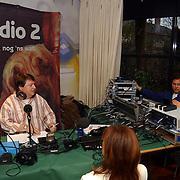 Perspresentatie Nationaal Songfestival 2005, Radio 2 uitzending Ron Stoeltie