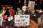 Israel, Haifa Bay, Activists protest against the air pollution from the factories in Haifa bay, September 10 2009, Haifa has the highest rate of airborne pollution in Israel