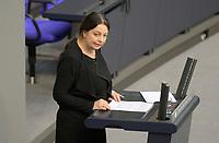 DEU, Deutschland, Germany, Berlin, 01.10.2020: Dr. Birgit Malsack-Winkemann (AfD) bei ihrer Rede während der Haushaltsdebatte im Plenarsaal des Deutschen Bundestags.