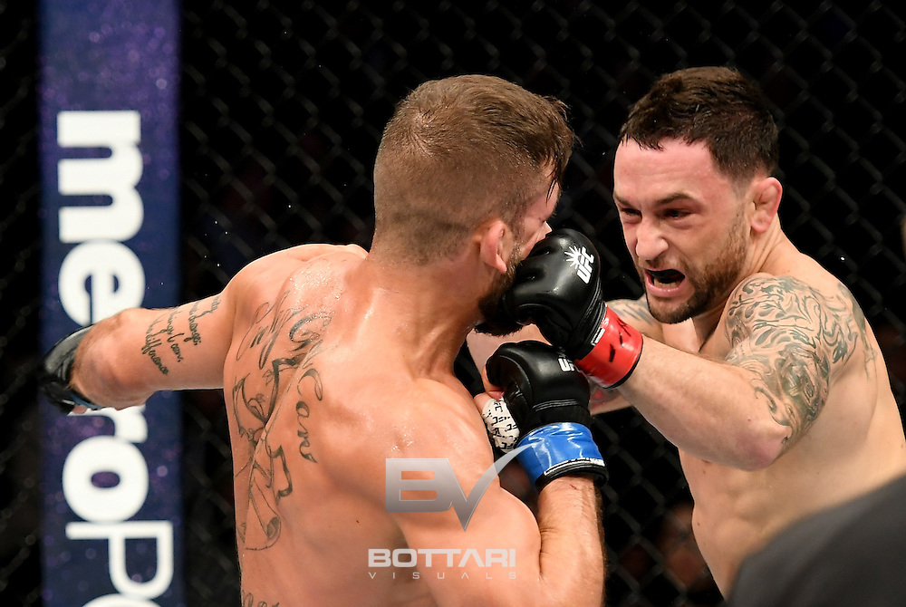 NEW YORK, NY - NOVEMBER 12:  Frankie Edgar of the United States (right) fights against Jeremy Stephens of the United States in their featherweight bout during the UFC 205 event at Madison Square Garden on November 12, 2016 in New York City.  (Photo by Jeff Bottari/Zuffa LLC/Zuffa LLC via Getty Images)