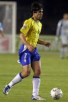 Fotball<br /> Kvalifisering til VM-sluttspillet i 2006<br /> Sør Amerika<br /> Brasil v Argentina 3-1<br /> 2. juni 2004<br /> Bel Horizonte - Brasil<br /> Foto: Digitalsport<br /> NORWAY ONLY<br /> Juninho, Brasil