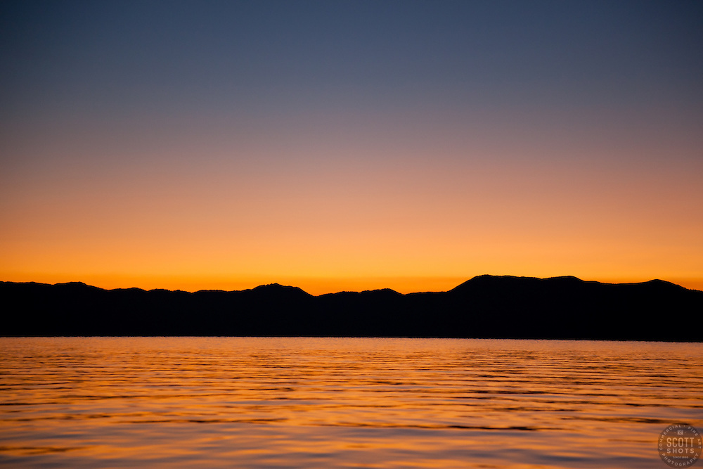 """""""Sunrise at Lake Tahoe 8"""" - This sunrise was photographed from a boat on Lake Tahoe."""