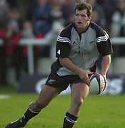 Richmond/Twickenham, England, Autumn International, and All Blacks Trianing at Old Deer Park. <br /> 04/11/2002<br /> All Black  Rugby Training -  Richmond Athletic Ground<br /> Marty Holah       [Mandatory Credit:Peter SPURRIER/Intersport Images]