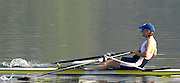 Hazenwinkel, BELGIUM,  Katherine GRAINGER in the last few stroke of her win in the Women's Single Sculls at the GB Rowing Senior Trials, on Mon 16.04.2007  [Credit, Peter Spurrier/Intersport-images]   [Mandatory Credit, Peter Spurier/ Intersport Images]. , Rowing Course, Bloso, Hazewinkel. BELGUIM