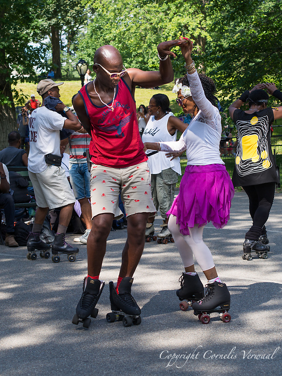 Roller Disco organized by the Central Park Dance Skaters Association.