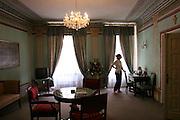 Krakow, Poland. Hotel Wit Stwosz guest room.