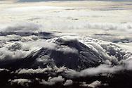 Aerial view of Volcano Cotopaxi, Ecuador, South America.