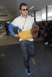 Orlando Bloom is seen at LAX Airport in Los Angeles, USA