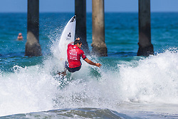 Ramzi Boukhiam (MAR) advances to Round 4 of the VANS US Open of Surfing after winning Heat 2 of Round 3 at Huntington Beach, CA, USA.