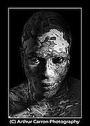 Model Mathew John. Make-up Caroline Geraghty. Photography Arthur Carron