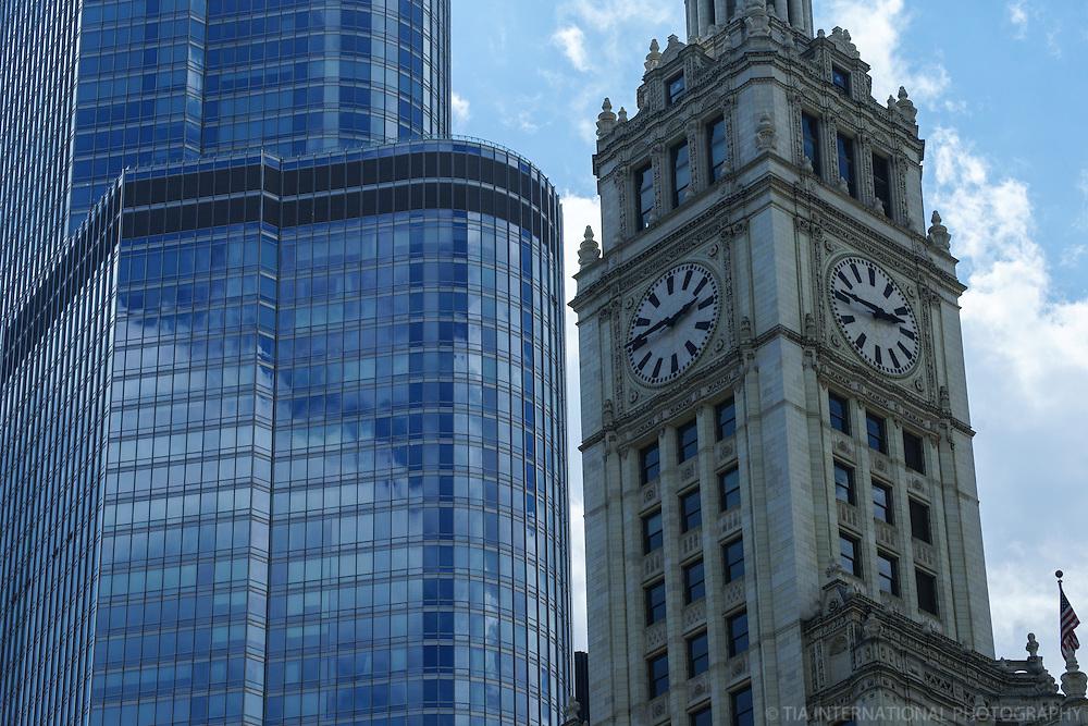 Wrigley Building Clock Tower vs. Trump International Hotel & Tower