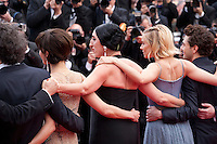 Official Jury Members Joel Coen, Sophie Marceau,Rossy de Palma, Sienna Miller and Xavier Dolan at the Closing ceremony and premiere of La Glace Et Le Ciel at the 68th Cannes Film Festival, Sunday 24th May 2015, Cannes, France.