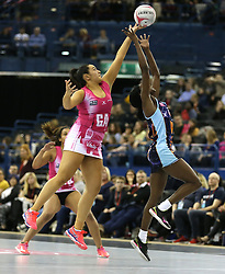 Severn Stars' Iona Darroch (right) and London Pulse's Chiara Semple battle for the ball during the Vitality Netball Superleague Super Ten match held at Arena Birmingham