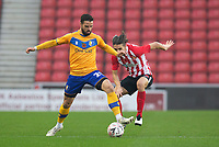Football - 2020 / 2021 FA Cup - Round One - Sunderland vs Mansfield Town - Stadium of Light<br /> <br /> Jimmy Knowles of Mansfield Town vies with George Dobson of Sunderland<br /> <br /> <br /> COLORSPORT/BRUCE WHITE