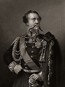 Victor Emmanuel II (1820-1878) King of Piedmont, Savoy and Sardinia from 1849. First King of Italy from 1861. During the Crimean (Russo-Turkish) War (1853-1856) Italy was allied with Britain and France against Russia. Engraving.