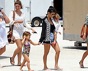 May 3, 2016 - Miami, FL, United States - <br /> <br /> Kourtney Kardashian carries her son Reign Disick as she walks with her daughter Penelope Disick on May 3 2016 in Miami, Florida<br /> ©Exclusivepix Media