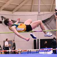Adriana Quiring in action during the 2018 Canada West Track & Field Championship on February  24 at James Daly Fieldhouse. Credit: Arthur Ward/Arthur Images