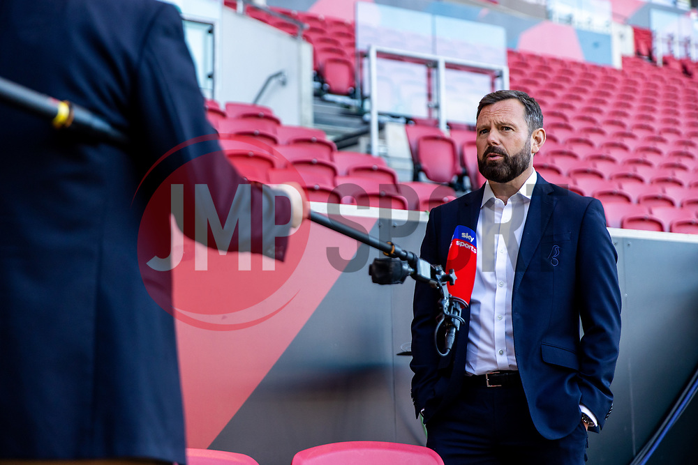 Bristol City CEO Mark Ashton is interviewed on Sky Sports before the game - Rogan/JMP - 24/09/2020 - Ashton Gate Stadium - Bristol, England - Bristol City v Aston Villa - Carabao Cup Third Round.
