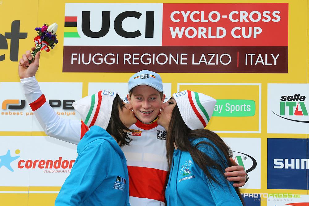 ITALY / ITALIE / FIUGGI / REGIO LAZIO / CYCLING / CYCLOCROSS / VELDRIJDEN / RADQUER / WORLD CUP #7 / WERELDBEKER #7 / COUPE DU MONDE #7 / 8TH MEMORIAL ROMANO SCOTTI / JUNIORS / VANDEBOSCH TOON (IKO ENERTHERM - BEOBANK) /
