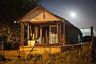 Blighted home next to the Jackson Barracks in New Orleans lower 9th Ward