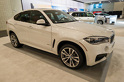 NEW YORK, USA - MARCH 24, 2016: BMW X6 on display during the New York International Auto Show at the Jacob Javits Center.