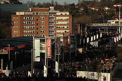 7 January 2018 -  The FA Cup - 3rd Round - Tottenham Hotspur v AFC Wimbledon - Fans make their way to Wembley Stadium in the late afternoon sunshine - Photo: Marc Atkins/Offside
