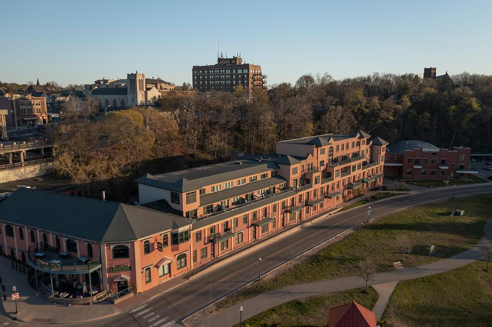 Aerial photo of Marquette, Michigan.