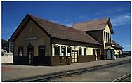 D&RGW Durango depot built in 1881 - Restored in 1963.<br /> D&RGW  Durango, CO  Taken by Wojtas, Ed
