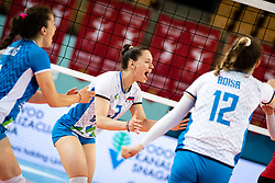 LORBER FIJOK Lorena of Slovenian national team reacts after winning a point during volleyball match between Slovenia and Austria in CEV Volleyball European Silver League 2021, on 6 of June, 2021 in Dvorana Ljudski Vrt, Maribor, Slovenia. Photo by Blaž Weindorfer / Sportida
