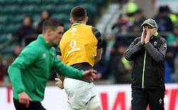 Ireland head coach Joe Schmidt before the NatWest 6 Nations match at Twickenham Stadium, London.