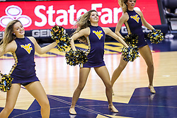 Dec 1, 2019; Morgantown, WV, USA; The West Virginia Mountaineers dance team performs during the second half against the Rhode Island Rams at WVU Coliseum. Mandatory Credit: Ben Queen-USA TODAY Sports