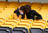 Football -Premier League- Wolverhampton Wanderers vs. Manchester City-  Two Wolves fans show their upset as the team is relegated at Molineux