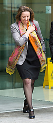 © London News Pictures. 29/05/2013. London, UK. Marta Bukarewicz leaving Westminster Magistrates court where she faces charges of conspiracy to commit misconduct in public office over allegations that she and her partner,  HMRC press officer Jonathan Hall, received payments from The Sun newspaper of £17,475 in exchange for unauthorised disclosure of information.  Photo credit: Ben Cawthra/LNP