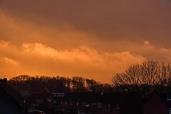 sunrise, zonsopgang in Kortenhoef, Wijdemeren, Netherlands