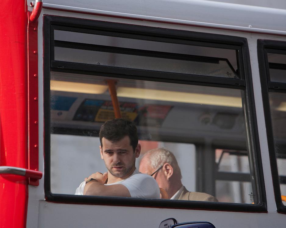Man on a London Bus