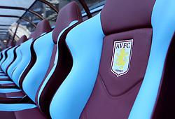 The bench at Villa Park - Photo mandatory by-line: Robbie Stephenson/JMP - Mobile: 07966 386802 - 07/04/2015 - SPORT - Football - Birmingham - Villa Park - Aston Villa v Queens Park Rangers - Barclays Premier League