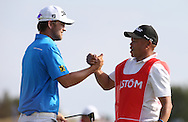 With caddie Shane, Bernd Wiesberger (AUT) celebrates winning the Final Round of the 2015 Alstom Open de France, played at Le Golf National, Saint-Quentin-En-Yvelines, Paris, France. /05/07/2015/. Picture: Golffile | David Lloyd<br /> <br /> All photos usage must carry mandatory copyright credit (© Golffile | David Lloyd)