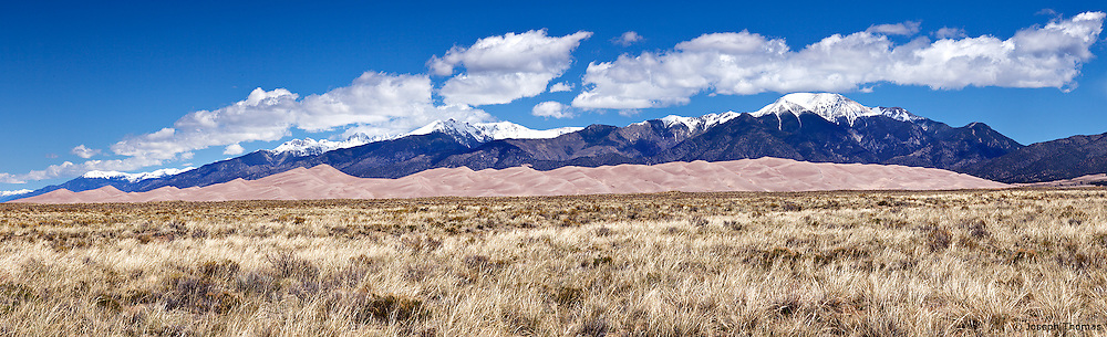 Here we see the reason the Great Sand Dunes exist. Grains of sand carried by the wind are deposited here because they are too heavy to be carried over the 14,000 foot peaks of the Sangre de Cristo Mountains.