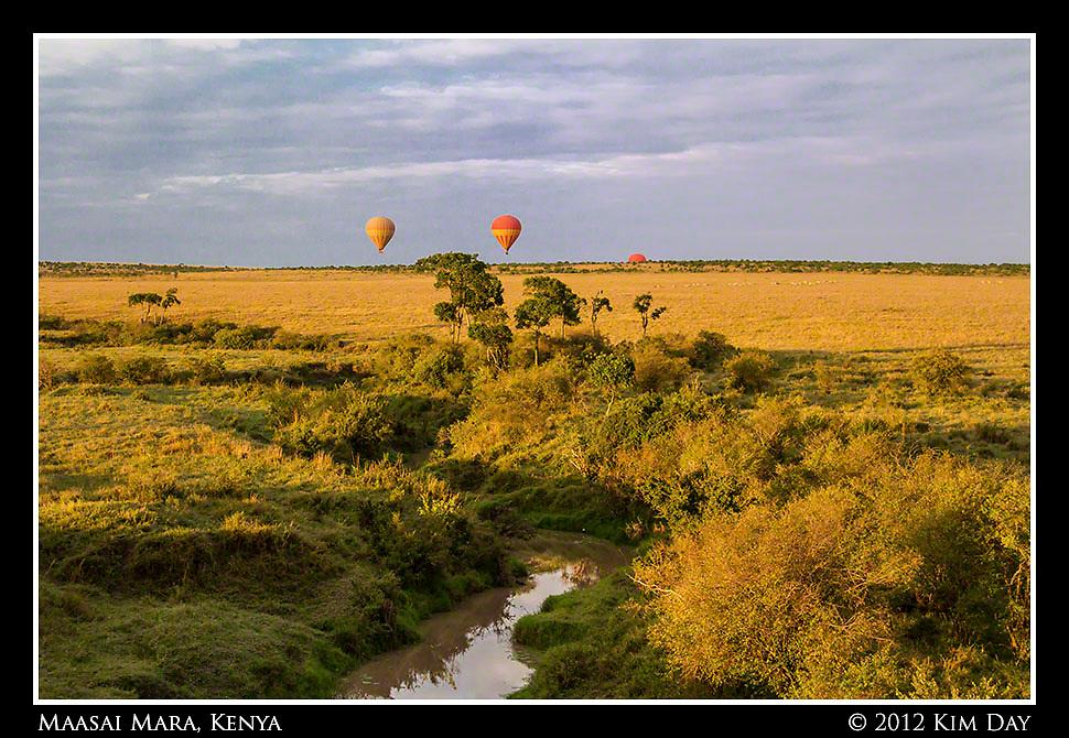 Balloons In Golden Light.Maasai Mara, Kenya.September 2012
