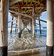 looking Under the Newport Beach Pier