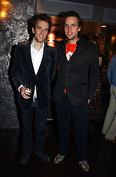 Left to right, DUNCAN STIRLING and CHARLIE GILKES at a party to celebrate the opening of Kitts nightclub, 7-12 Sloane Square, London on 7th December 2006.<br />