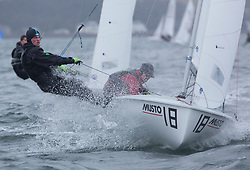 The RYA Youth National Championships 2018. Day 3<br /> <br /> 56342, Rhys Lewis, Drew Wright, CBYC, 420 Boy <br /> <br /> Images: Marc Turner / RYA<br /> <br /> For further information contact:<br /> <br /> Richard Aspland, <br /> RYA Racing Communications Officer (on site)<br /> E: richard.aspland@rya.org.uk<br /> m: 07469 854599