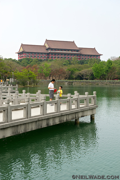 A look across Chengcing Lake at the Grand Hotel.