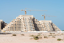 New residential apatment buildings under construction on Al Marjan Island in Ras al Khaimah United Arab emirates UAE
