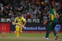 David Warner of Australia sets off for a run to bring up his century during the 5th ODI match between South Africa and Australia held at Newlands Stadium in Cape Town, South Africa on the 12th October  2016<br /> <br /> Photo by: Shaun Roy/ RealTime Images